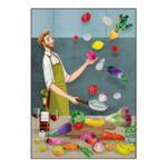 """Поздравителна картичка  """"Кулинарни забавления"""""""