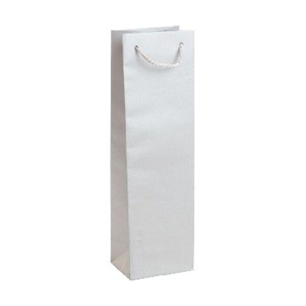 Подаръчен плик за бутилка, сребрист