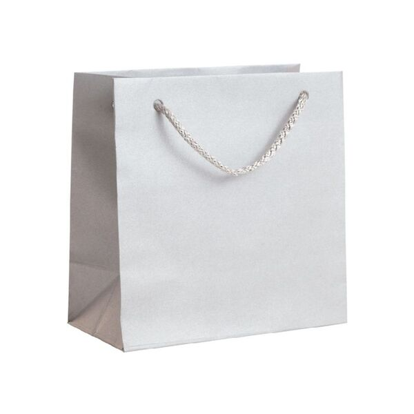 Подаръчен плик, сребрист, размер S