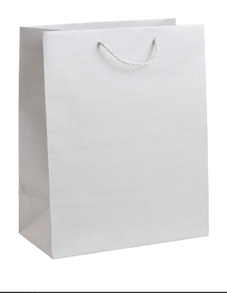 Подаръчна торбичка, сребриста, размер L