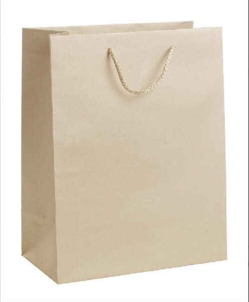 Подаръчна торбичка, златиста, размер L