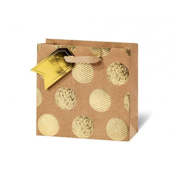 Подаръчен плик GOLDEN DOTS 14.5 x 15 x 6  см