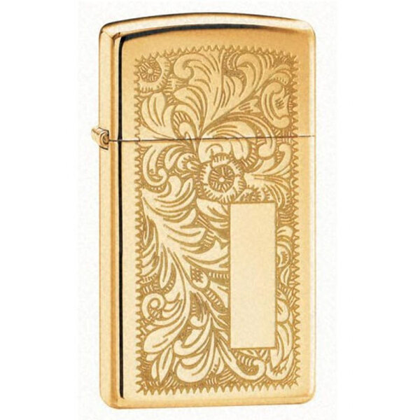 Запалка Zippo 1652B  Venetian Polished Brass, Slim