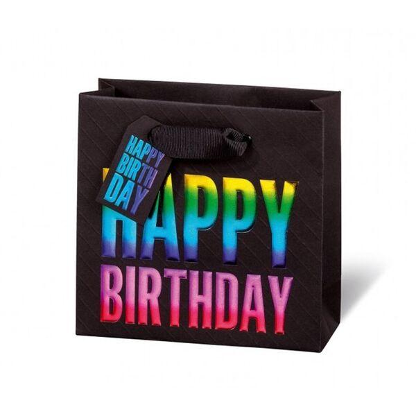 Подаръчен плик Happy Birthday Rainbow 14.5 x 15 x 6 см