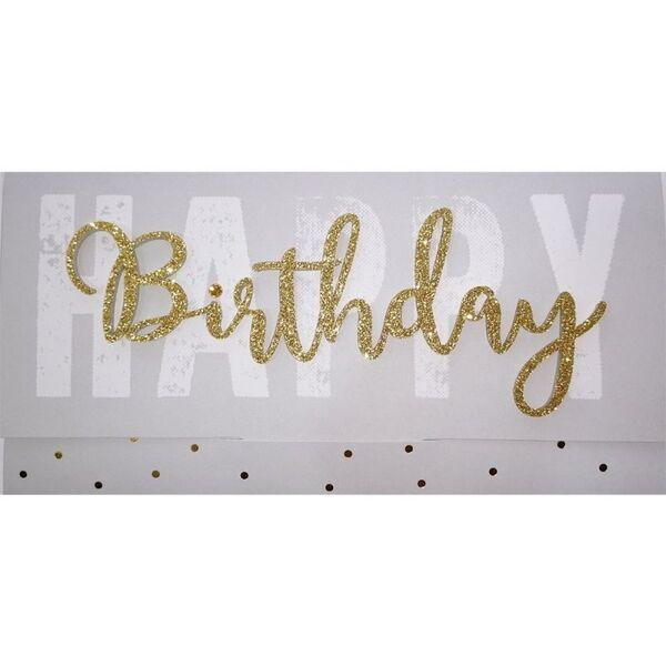 """Подаръчен плик за пари """"Happy Birthday - Grey"""""""