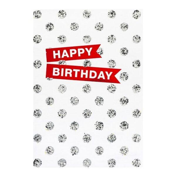 """Поздравителна картичка """"Happy Birthday - Diamonds"""""""