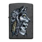 Запалка Zippo Wolf Skull Feather Design