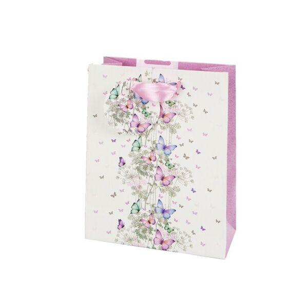Подаръчно пликче Пеперуди  14 x 11 x 6 см