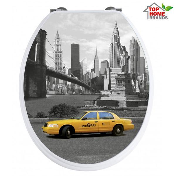 Капак за тоалетна чиния Wenko, с 3D изображение, New York