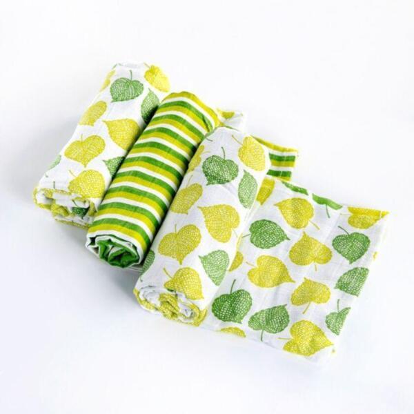 Комплект пелени от органичен памук Linden