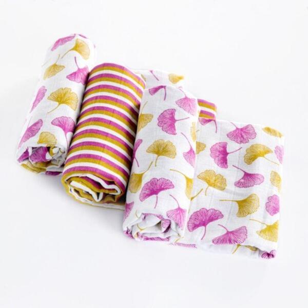 Комплект пелени от органичен памук Gingko