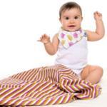 Бебешка бандана от органичен памук Gingko