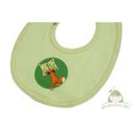 Бебешки лигавник от био памук зелен