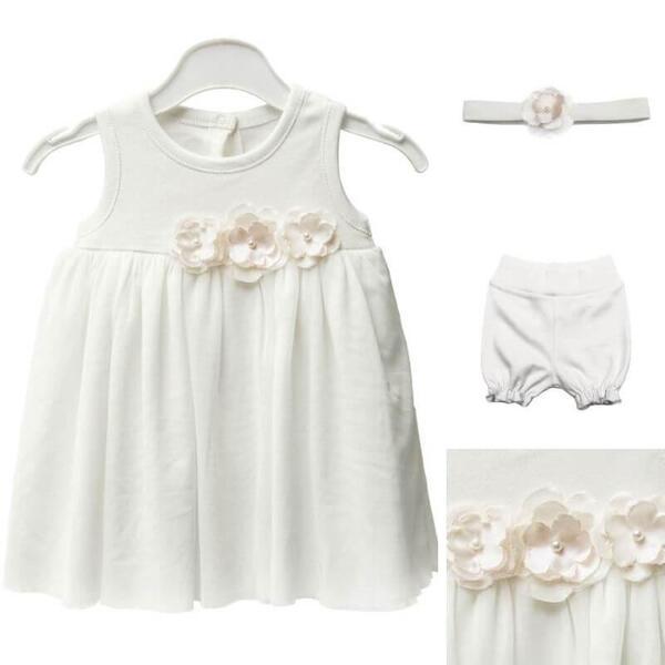 Бебешка рокля за кръщене от органичен памук