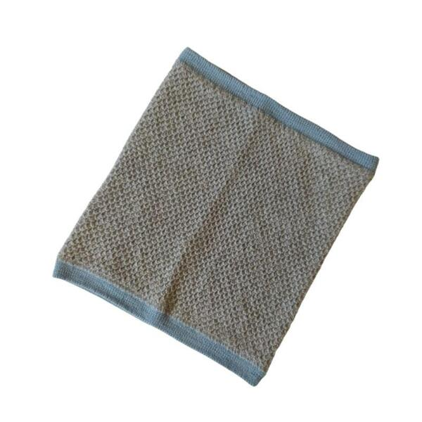 Детски шал-яка 100% мерино в сиво и синьо