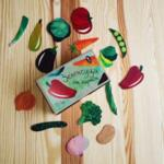 Зеленчуци от картон за игра