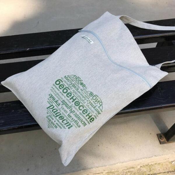Дамска памучна чанта за през рамо
