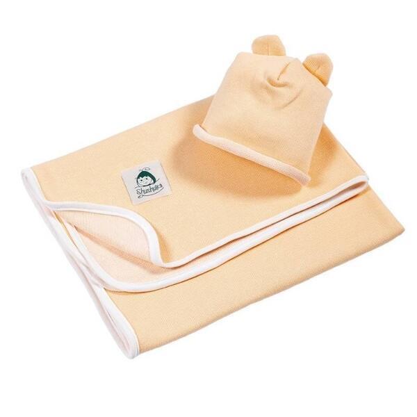 Бебешко одеялце от мерино вълна и органичен памук