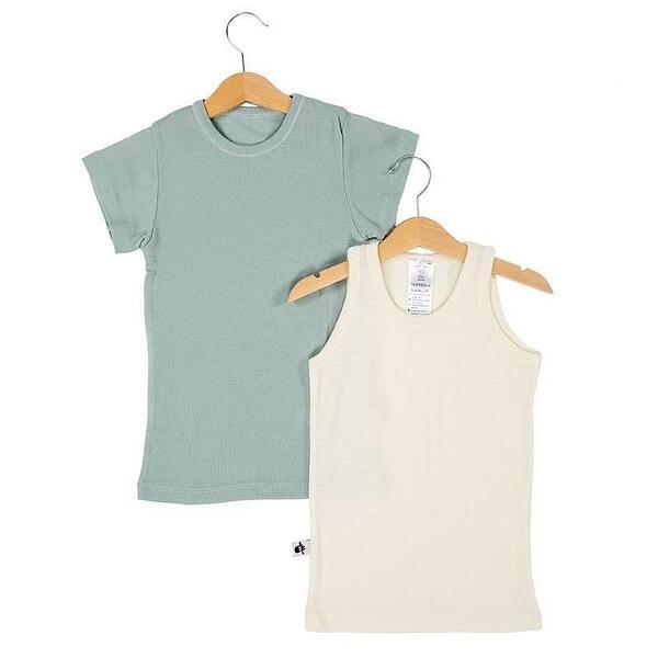 Комплект потник и тениска 100% фино мерино