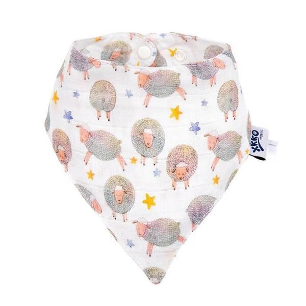 Бебешка бандана от органичен памук Dreamy Sheep