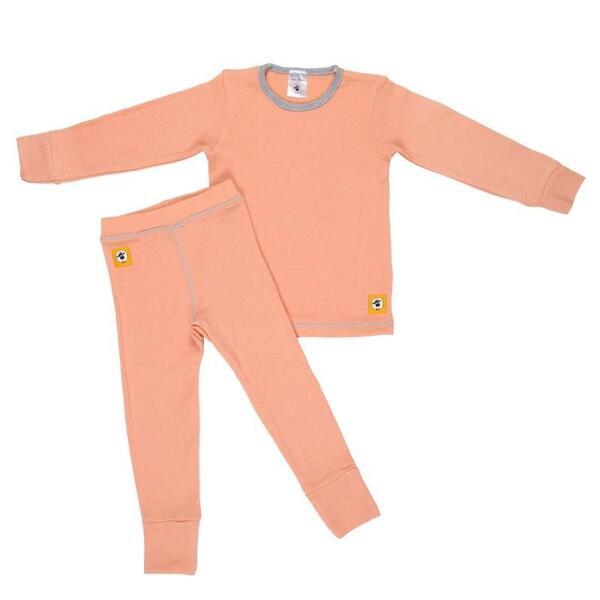 Детски комплект 100% мерино - блуза и клин в розово