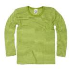 Детскa блуза от мериносова вълна и коприна в зелено