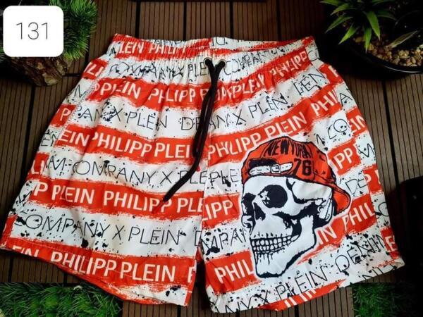 kurze Hose Philipp Plein in Weiß und Rot