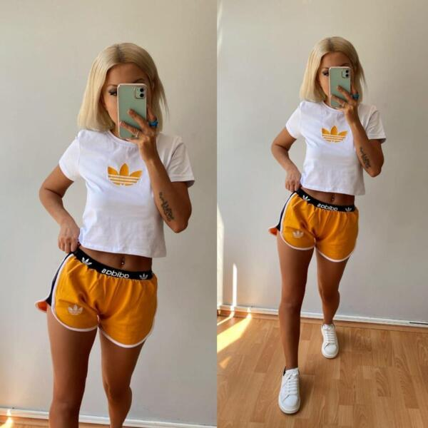 Sommer Sport-Outfit in Orange