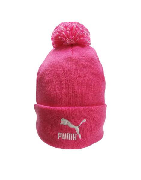 Шапка PUMA LS Core Knit Pom Pom Beanie Pink