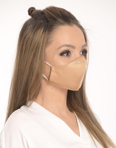 Двуслойна маска с оформящ ръб