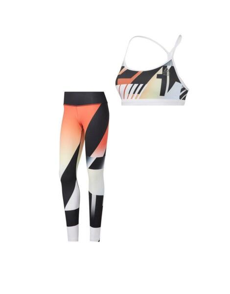 REEBOK CrossFit Medium Impact Skinny Bra Black/White