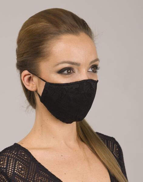 Двуслойна маска с дантела и метален стек