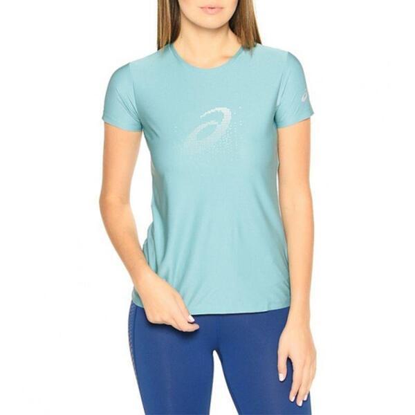 Дамска Тениска ASICS Graphic SS Top Kingfisher