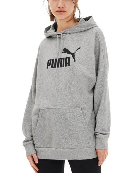 PUMA Essentials Elongated Hoodie Grey