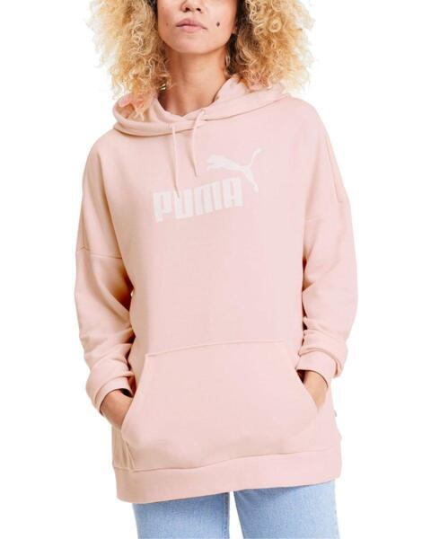 PUMA Essentials Elongated Hoodie Pink
