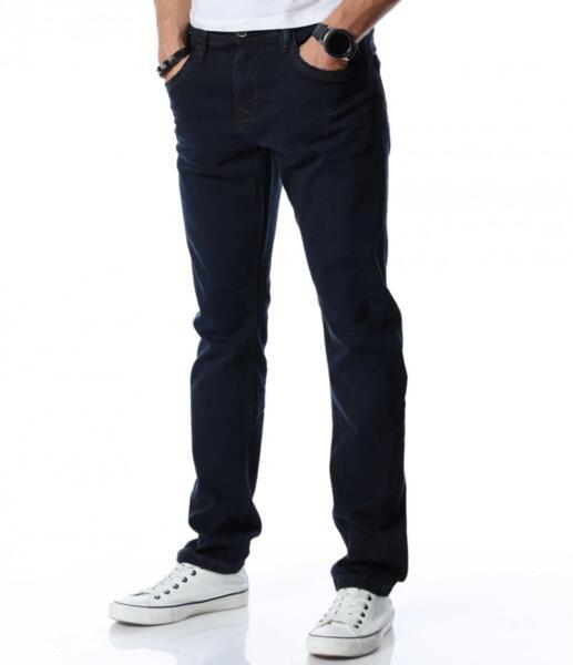 Тъмносин дънков панталон