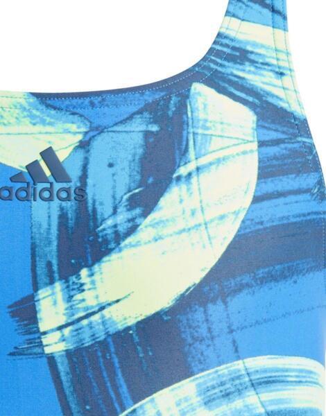 ADIDAS Girls Beachwear Parley Swim Suit Blue