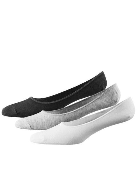 ADIDAS 3 Pack Performance Invisible Thin Socks BWG