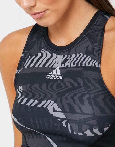 ADIDAS Own The Run Cropped Top Black