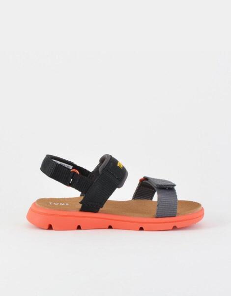 TOMS Solid Webbing Sandal Black