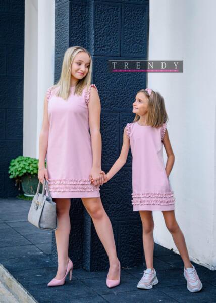 Дамска рокля в розово