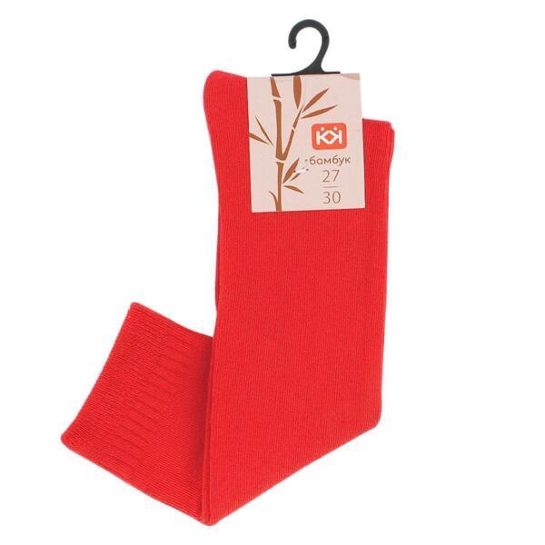 Червени 3/4 бамбукови чорапи