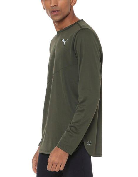 Мъжка блуза PUMA Ignite LS Mono Tee Green