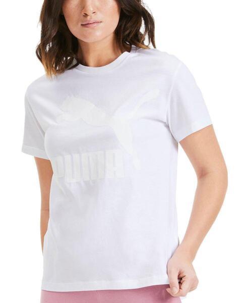 Дамска тениска PUMA Classics Logo Tee White