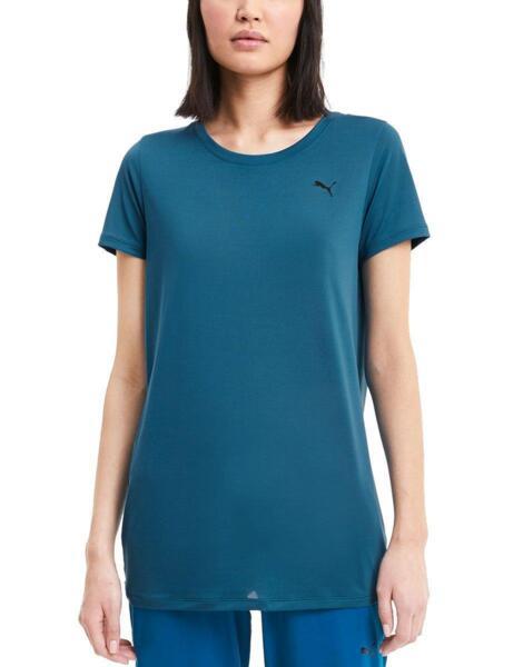 Дамска тениска PUMA Studio Lace Keyhole SS Tee Blue