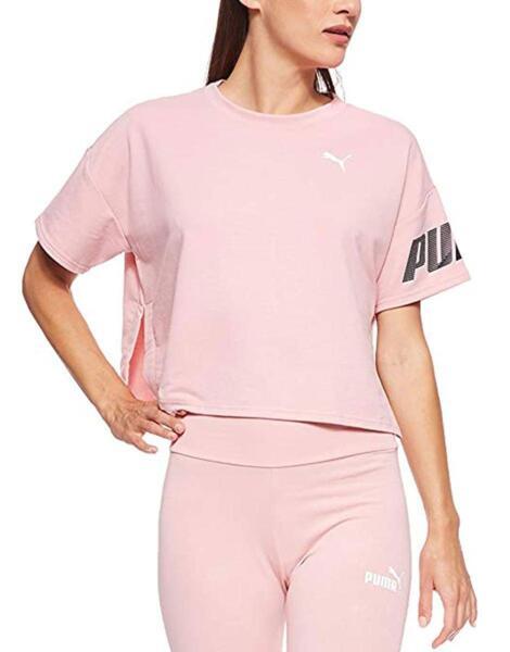 Дамска тениска PUMA Modern Sport Sweat Tee Pink