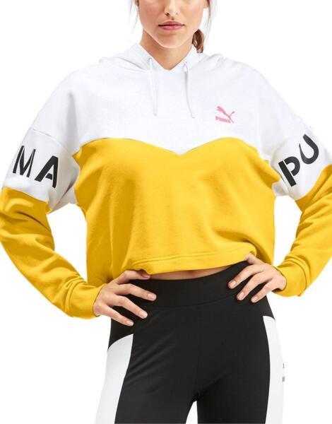 Дамски суичър PUMA XTG Sulphur Hoodie White/Yellow