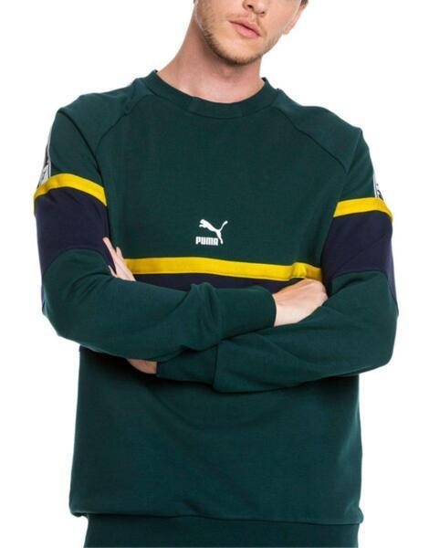 Мъжки суичър PUMA XTG Crew Ponderosa Pine Sweater Green