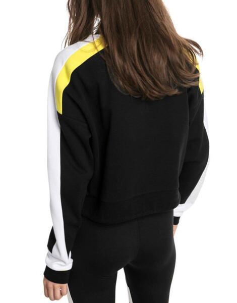 Дамско горнище PUMA Chase Crew Cotton Sweater Black