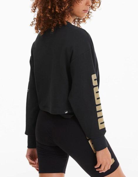 Дамско горнище PUMA Rebel Crew TR Sweatshirt Black